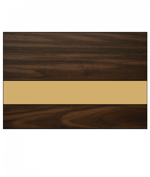 IPI Gold Coast Matte Dark Walnut/Bright Gold Engraving Plastic
