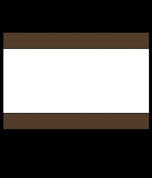 Rowmark Heavy Weights Brown/White/Brown Engraving Plastic