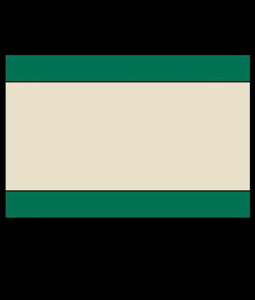 "Rowmark Heavy Weights Green/Tan/Green 1/4"" Engraving Plastic"