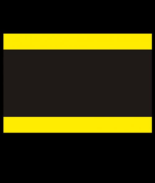 "Rowmark Heavy Weights Yellow/Black/Yellow 1/2"" Engraving Plastic"