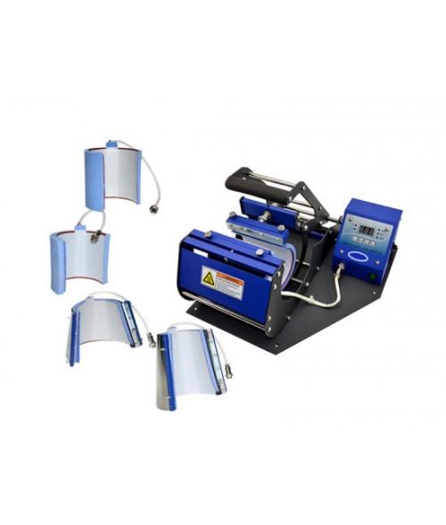 Johnson Plastics JP450 Multifunction Mug Press with 4 Heating Elements