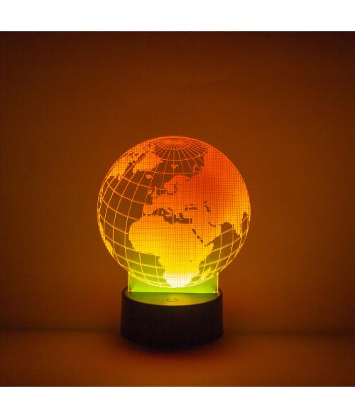 Circular Acrylic LED Light Base