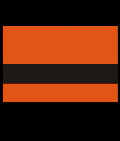 "Rowmark LaserMax Vibrant Orange/Black 1/16"" Engraving Plastic"