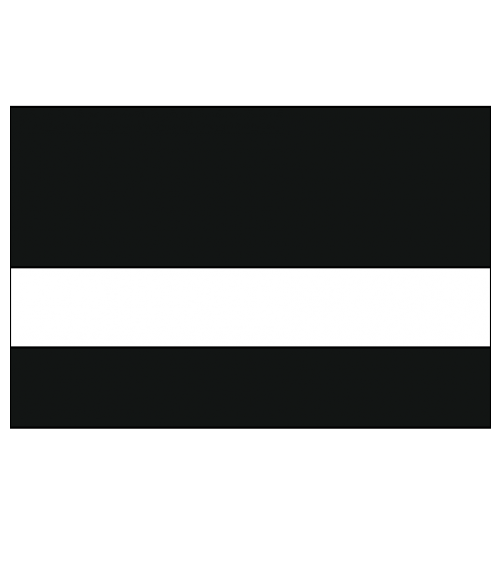 "IPI .005 Advantage Interior Brushed Satin Black/White 1/16"" Engraving Plastic"