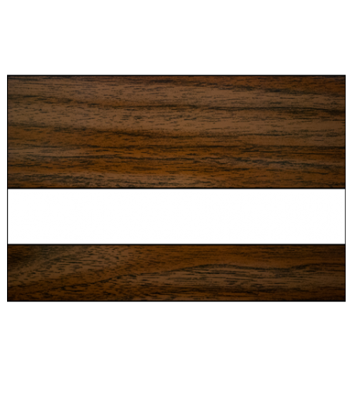 "IPI Laserables II Medium Walnut/White 1/16"" Engraving Plastic"