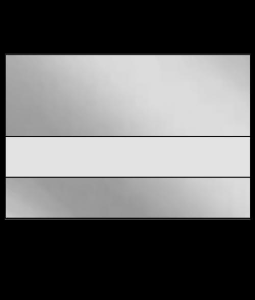 "IPI LazerMirr Gloss Clear/Silver Mirror 3/32"" Reverse Engraving Plastic"