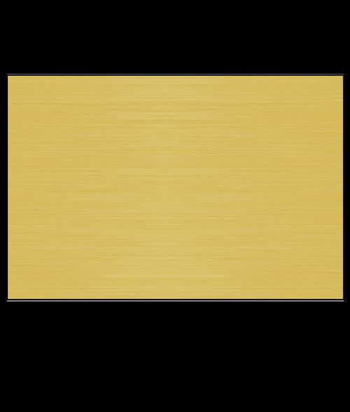 "IPI Laser Metallic Brush Clear/Brushed Gold 1/16"" Reverse Engraving Plastic"