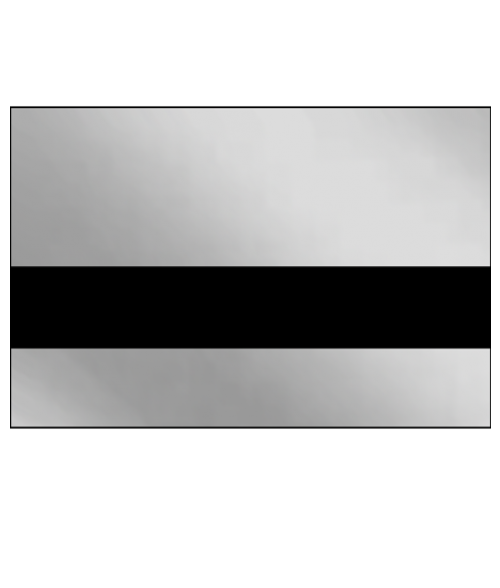 "IPI Metals Mirror Silver/Black 1/16"" Engraving Plastic"