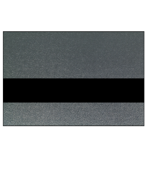 "Rowmark Metalgraph Plus Textured Nickel/Black 1/16"" Engraving Plastic"