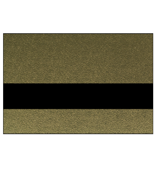 "Rowmark Metalgraph Plus Textured Gold/Black 1/16"" Engraving Plastic"