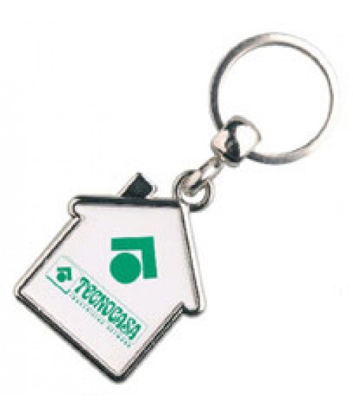 Punch N Press Silver House Key Chain