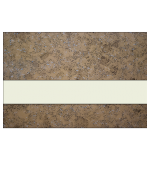 "IPI Architectural Stones Gloss Mocha Marble/Bone White 1/16"" Engraving Plastic"