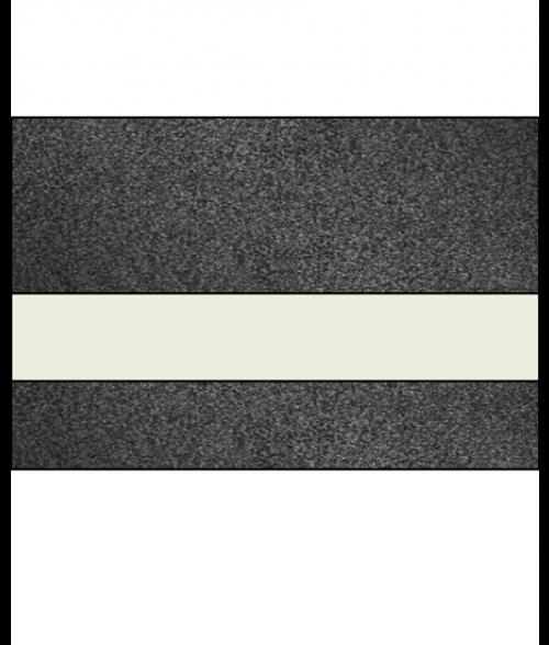 """IPI Architectural Stones Gloss Ebony Polished Stone/Bone White 1/16"""" Engraving Plastic"""