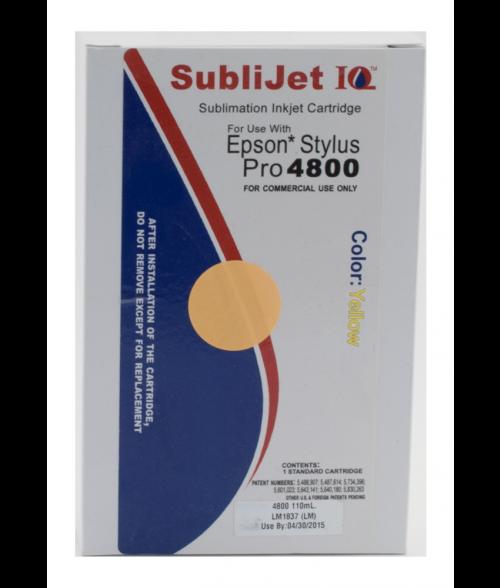 Sawgrass Sublijet-IQ Yellow 110ml Ink Cartridge (Epson 4800)