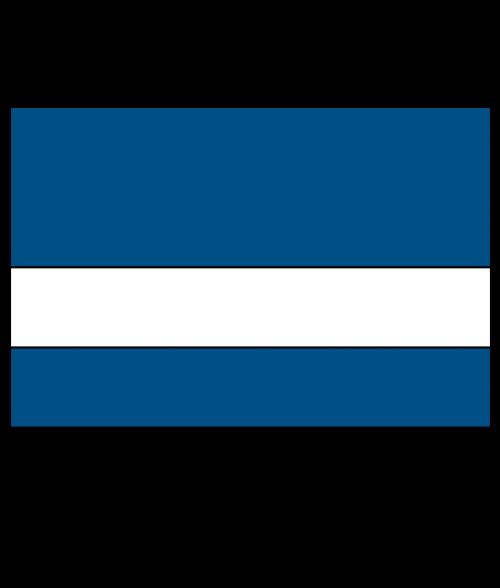 "Scott-Ply Colors Sapphire Blue/White 1/16"" Engraving Plastic"