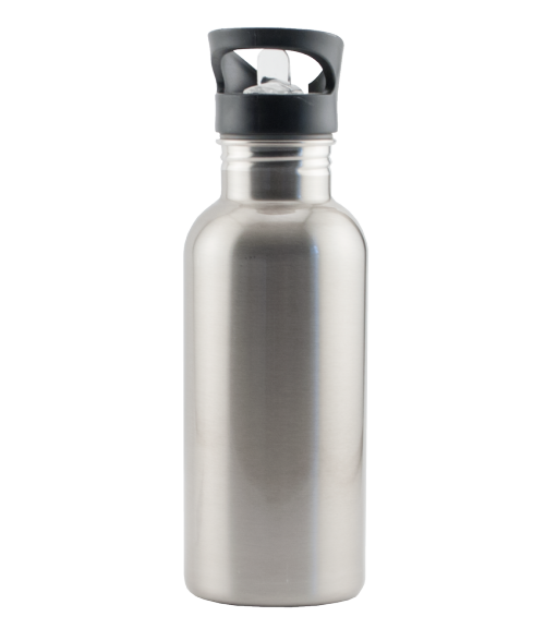 Silver stainless steel water bottle water bottles for Plaque ondulee polycarbonate transparent