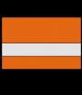 """Rowmark Slickers Clear/Orange 1/16"""" Reverse Engraving Plastic"""