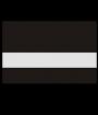 "Rowmark Color Cast Acrylic Matte Clear/Black 1/8"" Reverse Engraving Plastic"