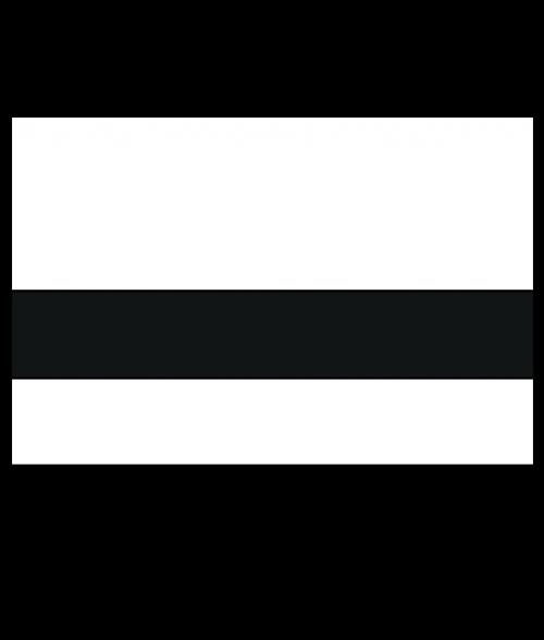 "Rowmark Satins Polar White/Black 1/16"" Engraving Plastic"