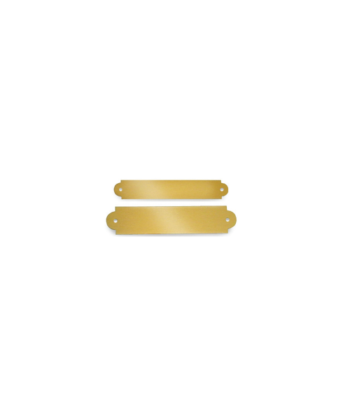 Satin Gold Brass Decorative Plaque Plate