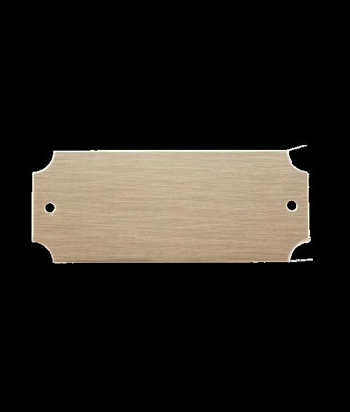 "Bright Gold 1"" x 2-1/2"" Lacquered Aluminum Decorative Plaque Plate"