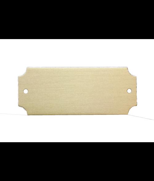 "Satin Gold 1"" x 2-1/2"" Lacquered Aluminum Decorative Plaque Plate"