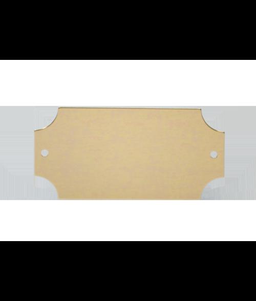 "Bright Gold 1.25"" x 2.5"" Lacquered Aluminum Decorative Plaque Plate"
