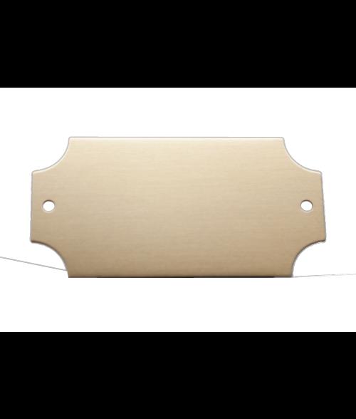 "Satin Gold 1.25"" x 2.5"" Lacquered Aluminum Decorative Plaque Plate"