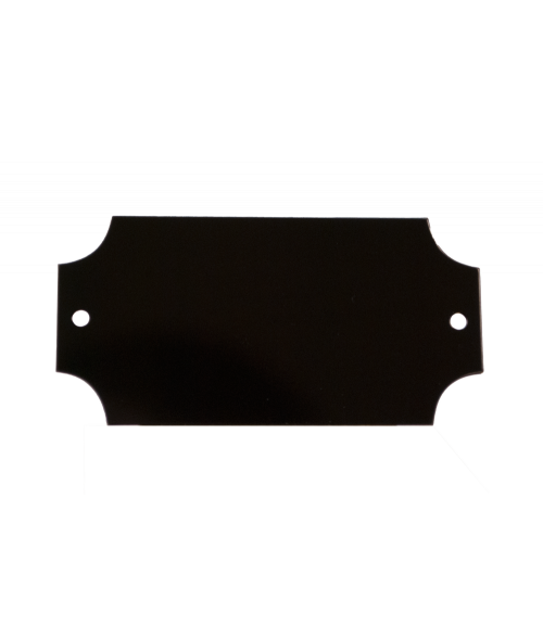 "Black 1.25"" x 2.5"" Brass Decorative Plaque Plate"
