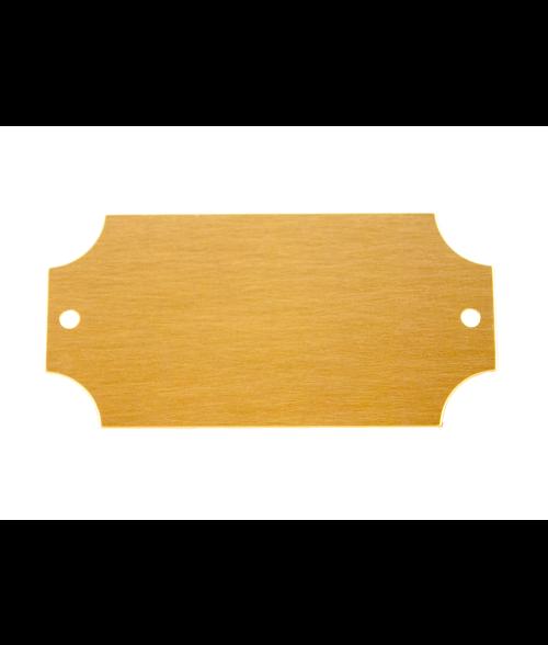 "Satin Gold 1.25"" x 2.5"" Brass Decorative Plaque Plate"
