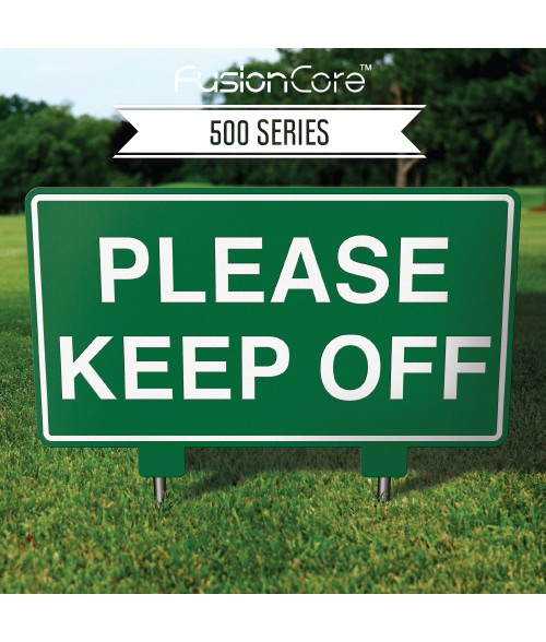"FusionCore Series 500 Rectangle Golf Sign with Steel Spikes (15"" x 9"")"