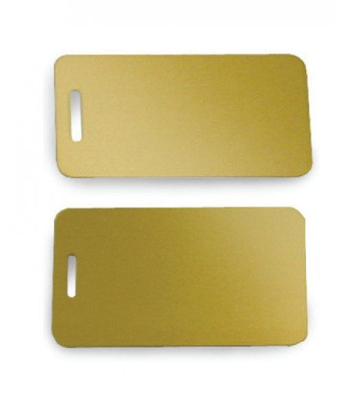 Satin Gold Brass Luggage Tag