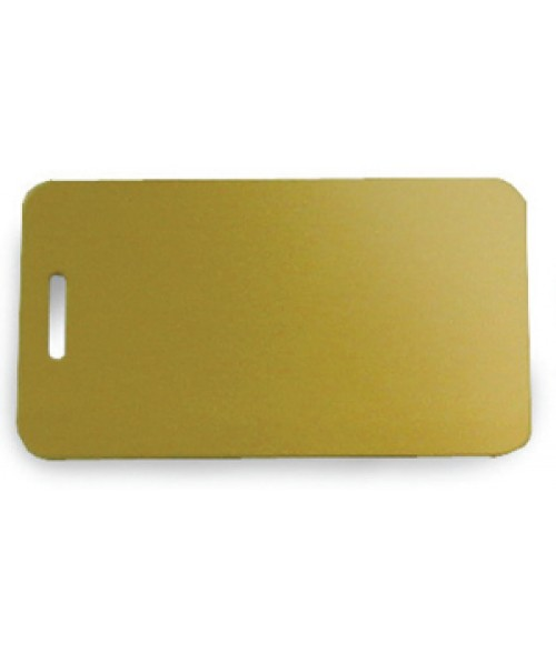 "Satin Gold 2"" x 3.5"" Brass Luggage Tag"