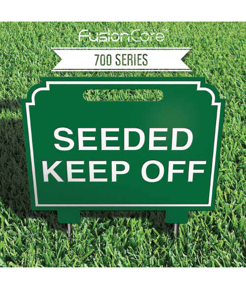 "FusionCore Series 700 Decorative Golf Sign with Steel Spikes (12"" x 10"")"