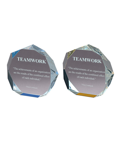 Acrylic Octagon Bevel Impress Award