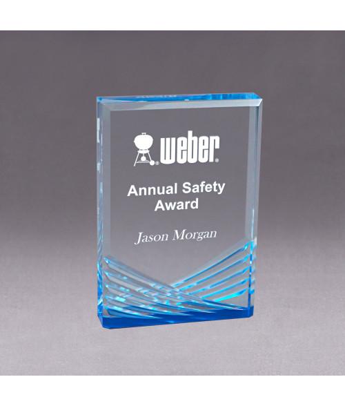 Blue Acrylic Inspire Impress Award