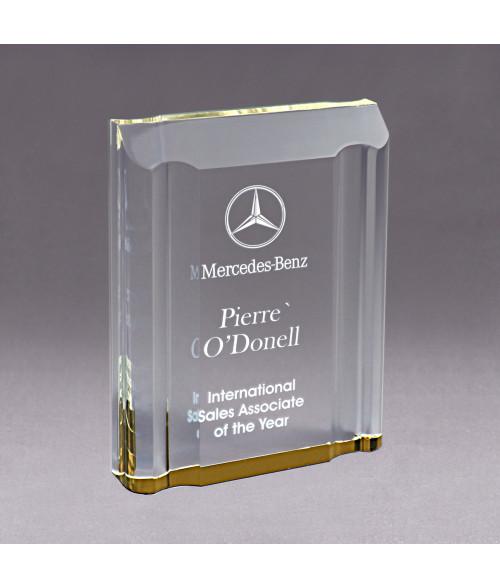 Gold Acrylic Channel Mirror Impress Award