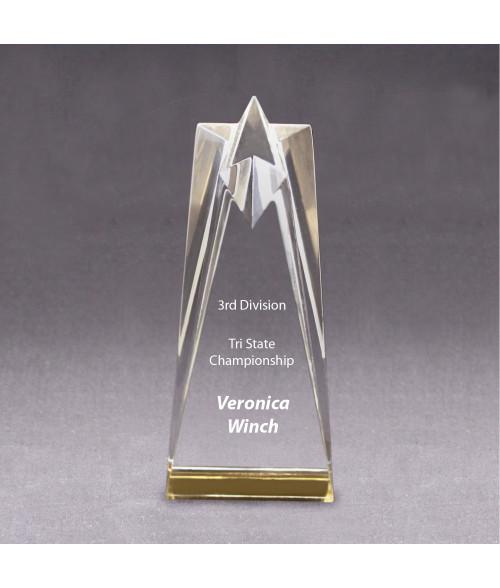 Gold Acrylic Star Tower Award