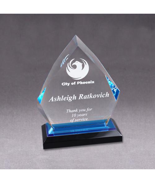 Blue Acrylic Diamond Impress Award