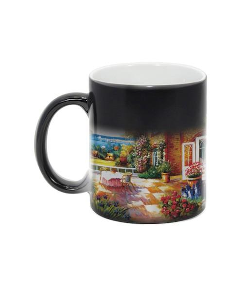 Black Color-Changing 11oz Ceramic Mug