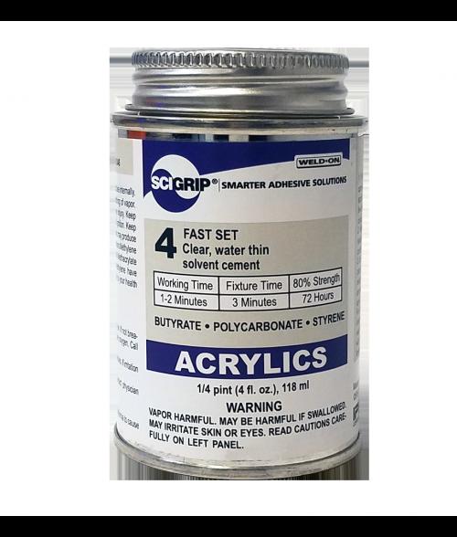 Weld-On/SCIGrip #4 Liquid Solvent for Bonding Acrylics