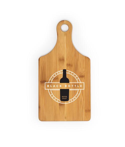 "Bamboo Wine Bottle Shaped Cutting Board 13.5"" x 7"" x .43"""