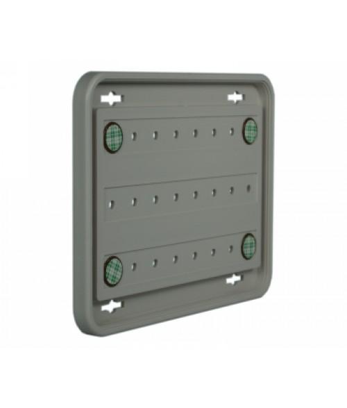 "Rowmark Portico Slate Grey 6"" x 8"" Round Poly Wall Frame"