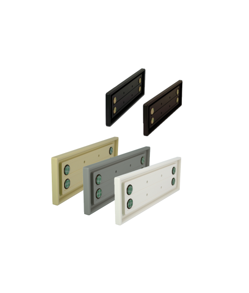 "Rowmark Portico 3"" x 10"" Square Poly Wall Frame"