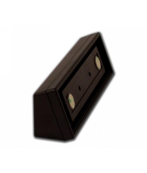 """Rowmark Portico Cocoa 2"""" x 8"""" Square Desk Poly Frame"""