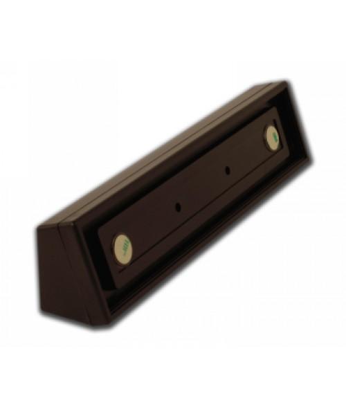"""Rowmark Portico Cocoa 2"""" x 10"""" Square Desk Poly Frame"""