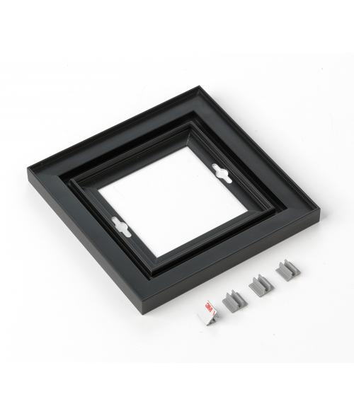 "Rowmark Streamline 100 Nighthawk Black 6"" x 6"" Assembled Metal Frame with 1/16"" Border"