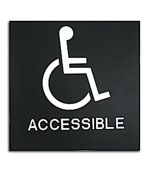 rowmark presto black 8 x 8 handicap accessible ready made ada sign