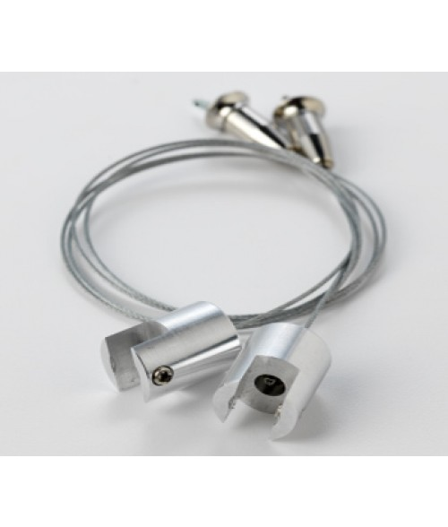 "Rowmark Silver 12"" Round Meridian Cable System (2/Pkg)"