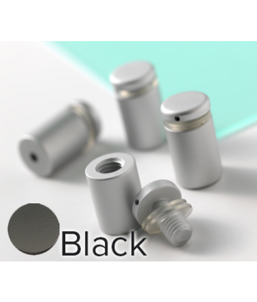 "Rowmark Dimensional Design Mount Black Stand-offs (.50"" Diameter .63"" Barrel Length)"